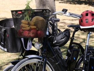 Faire ses courses à vélo électrique