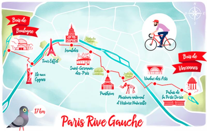 Itinéraire à vélo : Paris et ses monuments le long de la Rive Gauche